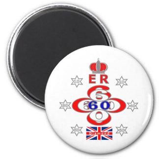 Queens Royal Jubilee stars design Magnet