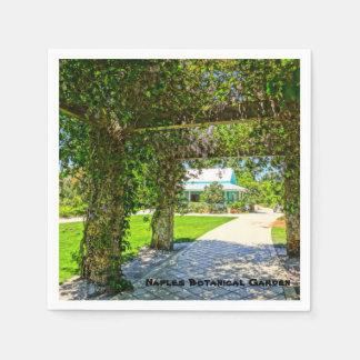 Queen's Wreath Naples Botanical Garden, Florida Paper Napkin