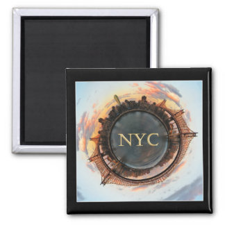 Queensboro Bridge Planet New York Magnet
