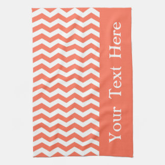 Queensland Coral Wave Chevron customizable Kitchen Towels