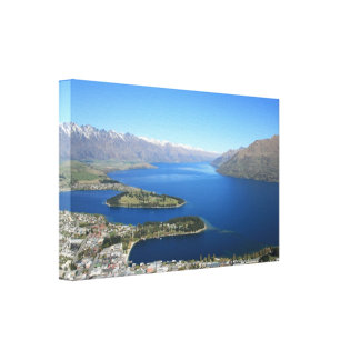 Queenstown from Bob's Peak, New Zealand - Canvas