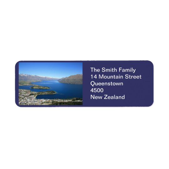 Queenstown NZ, Customizable Address Label