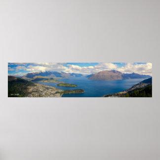 Queenstown Panorama NZ Poster