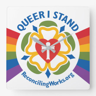 """Queer I Stand"" clock"