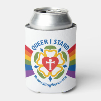 """""""Queer I Stand"""" coozie"""