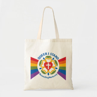 """Queer I Stand"" tote bag"