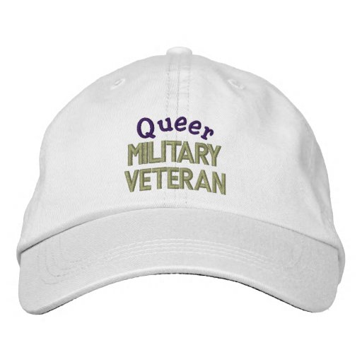 Queer Military  Veteran Embroidered Hat