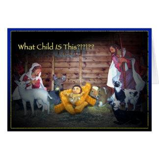 Quel enfant EST ceci ? ? Carte de Noël de Jésus de
