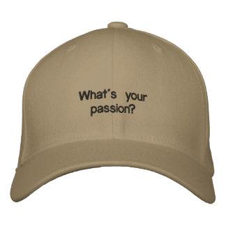 Quelle est votre passion ? Casquette Casquette Brodée