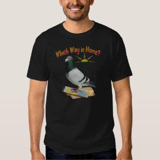 Quelle manière est maison ? Art de pigeon T Shirts
