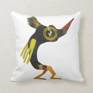 QuElo  the space friend Throw Pillow
