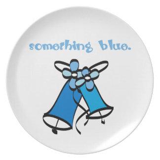 Quelque chose bleue assiette pour soirée