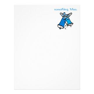 Quelque chose bleue en-tête de lettre