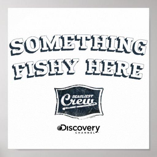 Quelque chose ici affiche de poisson