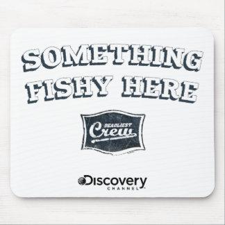 Quelque chose ici Mousepad de poisson Tapis De Souris