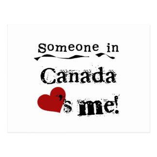 Quelqu'un au Canada m'aime Cartes Postales