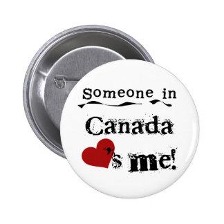Quelqu'un au Canada m'aime Macaron Rond 5 Cm