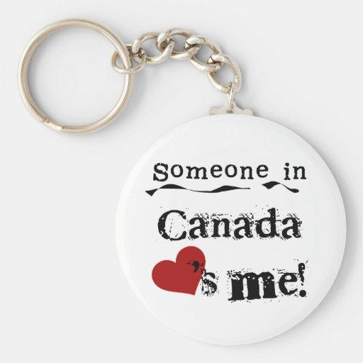 Quelqu'un au Canada m'aime Porte-clefs