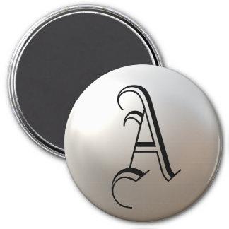 Quels initiaux sur l'aimant de perle magnet rond 7,50 cm