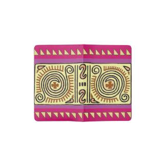 Quenacho Crimson Aztec Design Pocket Notebook