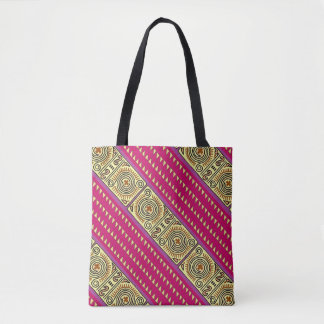 Quenacho Crimson Tribal Pattern Print All Over Tot Tote Bag