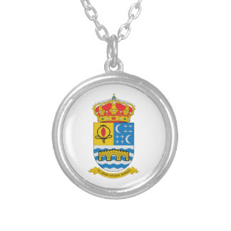 Quentar (Spain) Coat of Arms Silver Plated Necklace