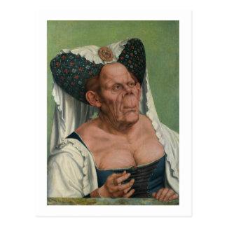 Quentin Massys - A Grotesque Old Woman, 1515 Postcard