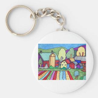 Quentin's Farm Basic Round Button Keychain