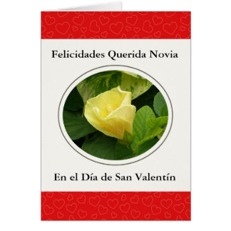 Querida Novia en San Valentin Card