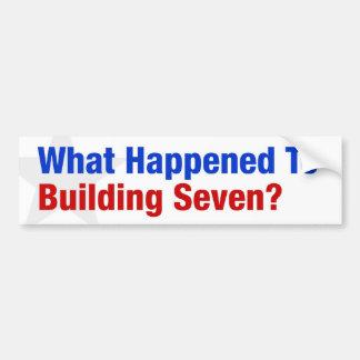 Qu'est arrivé à construire sept ? autocollant de voiture
