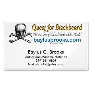 Quest for Blackbeard - Magnetic Bus. cards (white)