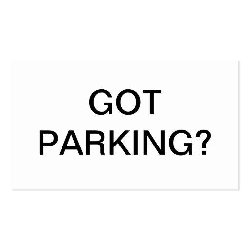 Question de stationnement modèles de cartes de visite
