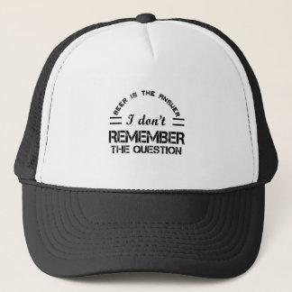 Question design cute trucker hat