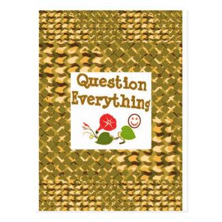 Question EVERYTHING: Meditate WISDOM word LOWPRICS Postcard