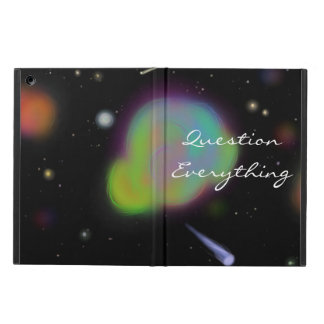 """Question Everything"" Space iPad Cover"
