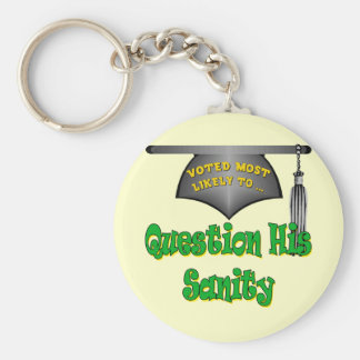 Question His Sanity Keychain