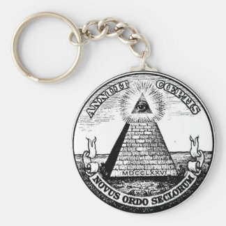 Question Illuminati New World Order Keychain