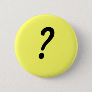 Question mark 2 inch round button