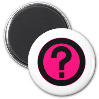 Question Mark Ask Query Symbol Punctuation 2 Inch Round Magnet