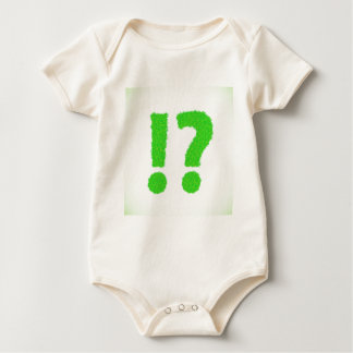 question mark baby bodysuit