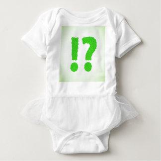 question mark baby bodysuit