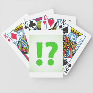 question mark bicycle playing cards