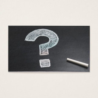 Question Mark Chalk Chalkboard Information Business Card