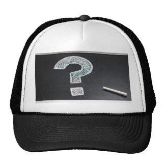 Question Mark Chalk Chalkboard Information Trucker Hat