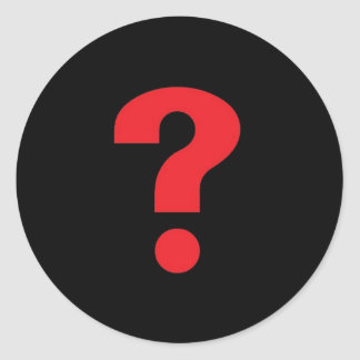 Question Mark Classic Round Sticker