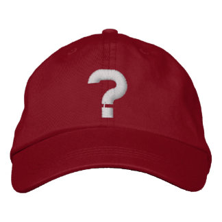 question mark embroidered hat
