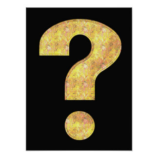 Question Mark Leaves Poster