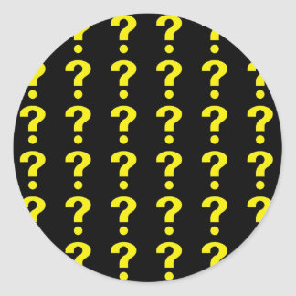Question Mark pattern Classic Round Sticker