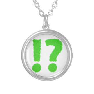 question mark silver plated necklace