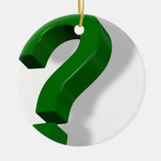 question mark symbol ceramic ornament
